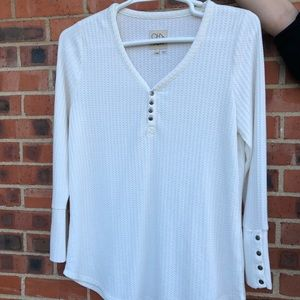 Chaser waffle knit v-neck thermal top size  XXL